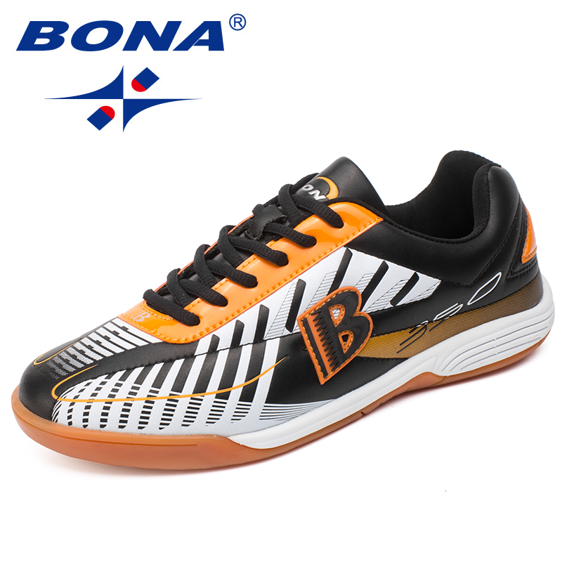 BONA New Hot Style Men Soccer Shoes Ankle Zapatillas Deportivas Mujer Futbol Football Shoes Men Action Leather Free Shipping zapatillas deportivas limited 2016 new medium b m genuine leather men s casual shoes men autumn tide brand free shipping