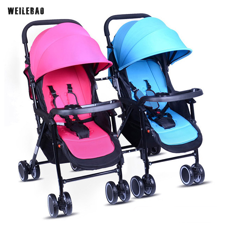 BabyStroller Light 50cm High View Baby Twin Strollers Color Mixed Carriages Detachable Freely Prams Wide Seat Cars for Twins big space twins prams for children 0 4 years baby carrinho for twin with all cover sun canopy oxford fabric twin baby carrier