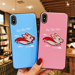 Sewing SFor Case iPhone XS case Max XR case x embroidery case For iPhone 8 7 Plus Lovely animal Cloth Coque For iPhone 6 6S Dog 4