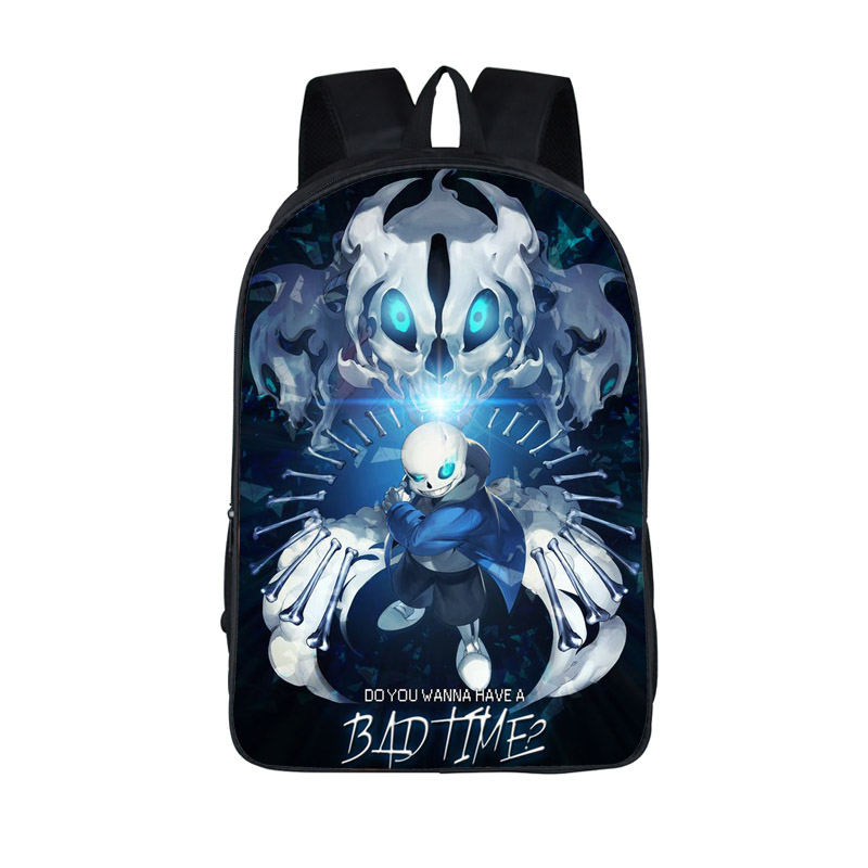Anime Undertale Backpack for Teenage Girls Boys Book Bag Sans Women mochila Men Travel Bag Undertale Children School Backpacks women men anime black bulter sebastian michaelis backpack rucksack mochila schoolbag bag for school boys girls student travel