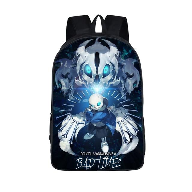 Anime Undertale Backpack For Age S Boys Book Bag Sans Women Mochila Men Travel