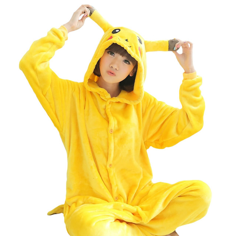 Centuryestar Mens Pokemon Onesie Pijamas De Animales De Una Sola Pieza Flannel Jumpsuit Hooded Pyjamas Mens Winter Sleepsuit