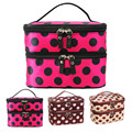 Graceful Double Layer Cosmetic Bag Travel Toiletry Makeup Bag Bolsa de maquillaje  SEPT8