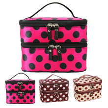 Graceful Double Layer Cosmetic Bag Travel Toiletry Makeup Bag Bolsa de maquillaje FREE SHIPPING SEPT8