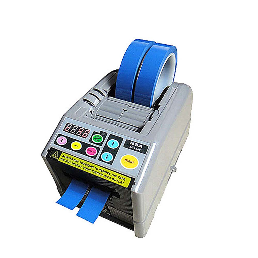 ZCUT-9 Automatic Tape Dispenser Tape Cutting Machine Microcomputer automatic cutting 6-60mm width Packaging belt cutting tool micro 100 rc 281100 right hand cut off brazed screw machine tool style rc tool dimension of 6 length 9 32 width 9 32 height tip dimension of 0 100 width