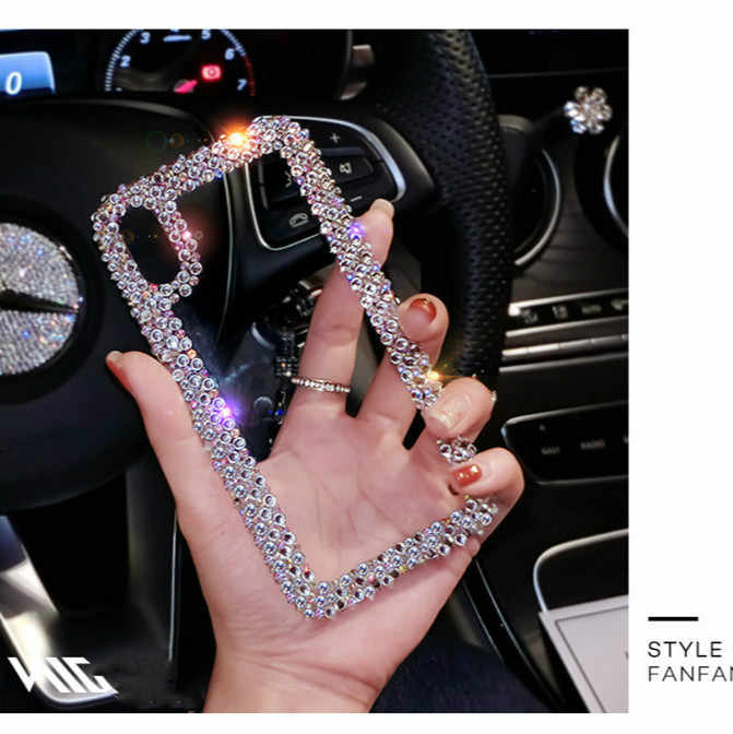 For Samsung Galaxy A20 A30 A50 A10 A40 A70 A60 A80 A90 M10 M20 S10 5G Plus S8 S9 S10E Note 8 9 10 Phone Case Cover Rhinestone