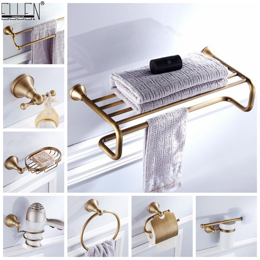 Handtuch Regal Bad Handtuch Regal Wc Papier Halter Seife Halter Handtuch Rack Wäschetrockner Halter Bad Hardware Set Antike Bronze Fertig Elf3001