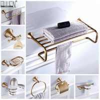 Prateleira de toalha do banheiro suporte de papel higiênico suporte de sabão toalheiro toalheiro toalheiro toalheiro banho conjunto de ferragens bronze antigo terminado elf3001