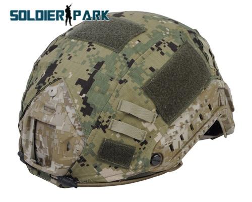 Prix pour Camouflage Haute Qualité Nylon Couvre-casque pour Rapide Casque Vover BJ/PJ/MH de Plein Air Paintball Airsoft Militaire casque Accessoire