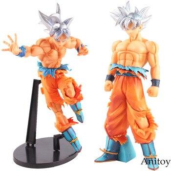 SCultures LỚN Dragon Ball Z Siêu Bản Năng Hình Đấu Trường La Mã 5 Super Saiyan Son Goku Sliver Tóc PVC Hình Sưu Tập Mô Hình đồ chơi