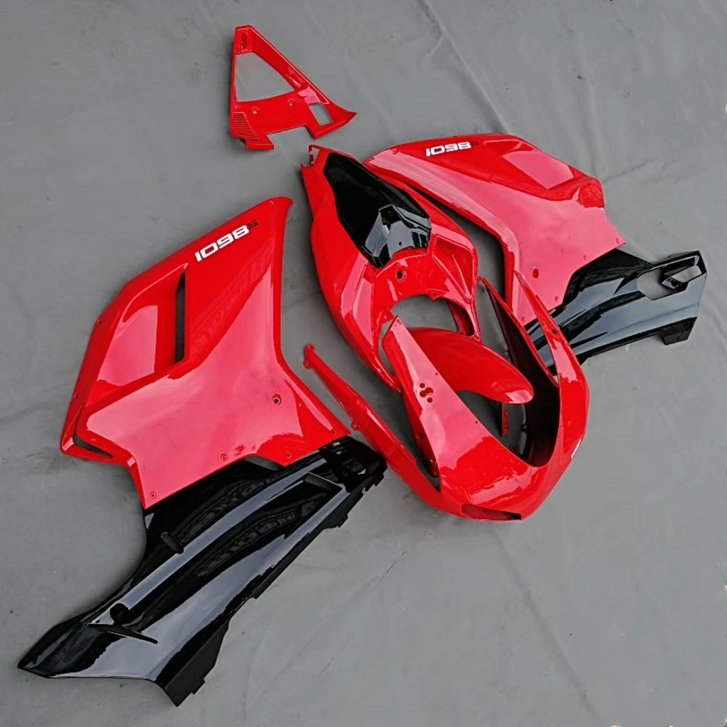 Motorcycle ABS Fairing Kit Bodywork For Ducati 1198 1098 848 Year 2007 2008 2009 07 08 09 Full Fairings Injection Molding Red