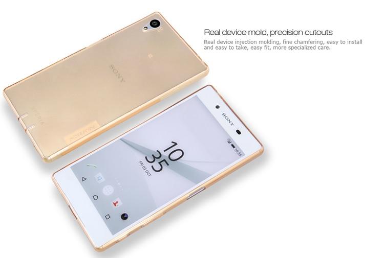 Or Ultra Mince Étui Transparent Tpu Pour Les Z5 De Sony Xperia uCXL9w