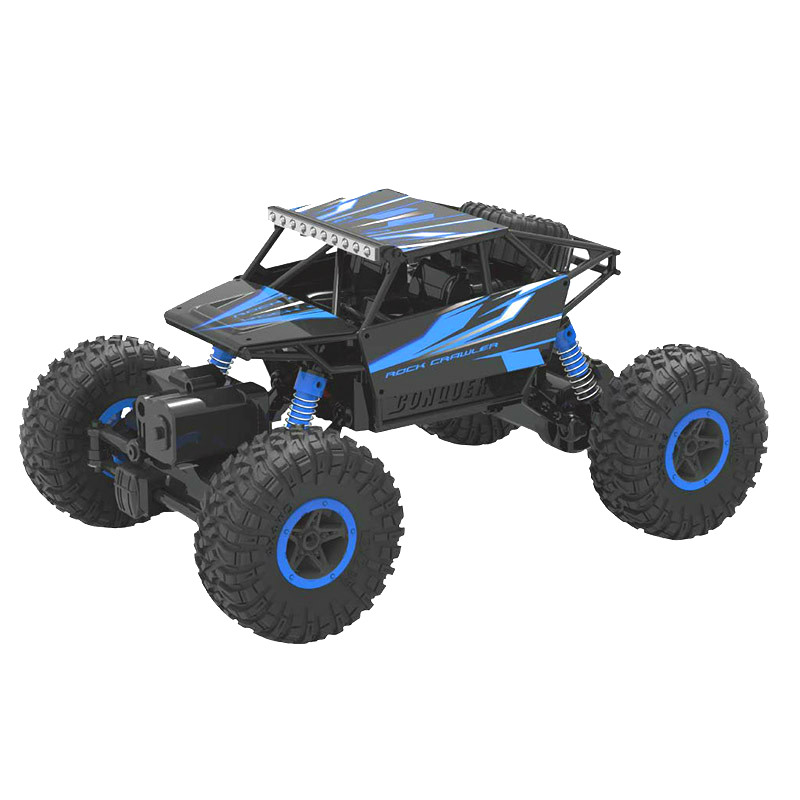 Rc Car 4WD 2.4GHz Rock Rally climbing 4x4 Double Motors Bigfoot Car Remote Control Model Off Road Vehicle Toy 20001