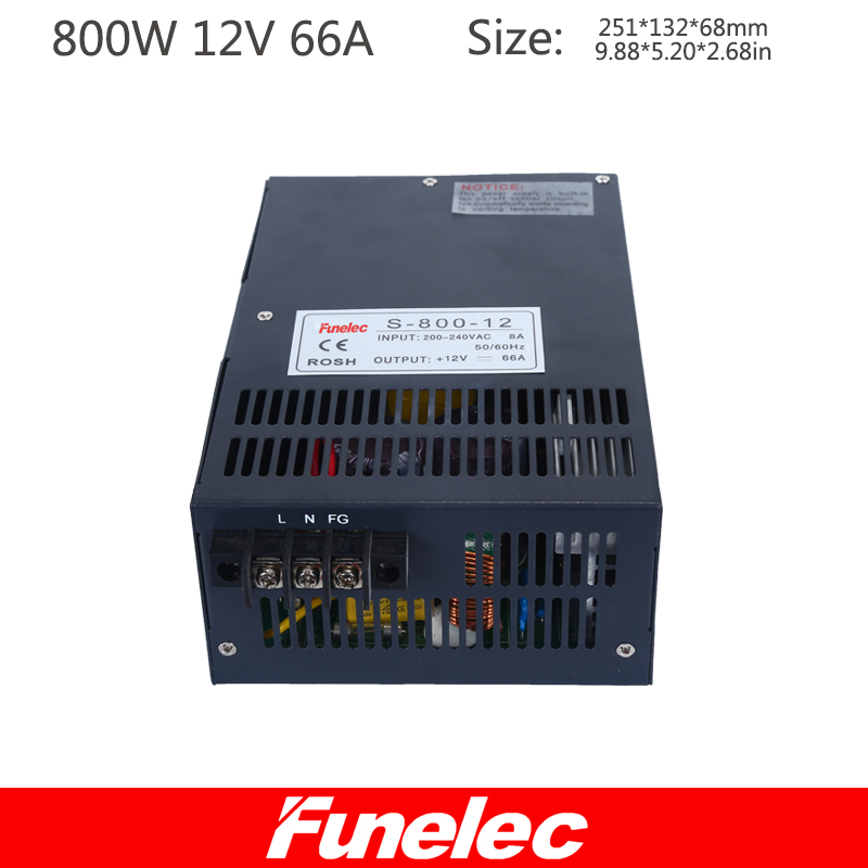 800W12V66A high power switching power supply for medical industrial control machinery and equipment industrial motor power switching power supply 5v ccfl inverter instead of cxa m10a l 5 7 inch industrial screen high pressure lm 05100 drive