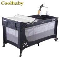 Coolbaby забор для детей многофункциональная складная кровать портативная детская колыбель с москитной сеткой безопасная и безопасная