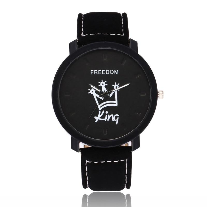 New Relogio Couples Watch King Queen Leather Quartz Watch Mens Ladies Fashion Sport Clock Men s
