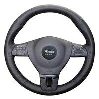 Microfiber leather braid on the Steering Wheel Cover for Volkswagen VW Gol Tiguan Passat B7 Passat CC Touran Jetta Mk