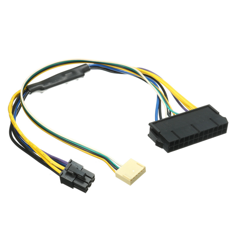 ATX 24pin to 6pin Motherboard 2-port Adapter Power Supply Cable Cord for HP Z220 Z230 SFF Mainboard Server Workstation 30cm Hot high quality atx 24pin motherboard power extension cable 30cm four colors for your choice 18awg 24pin extension cable