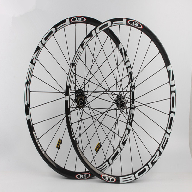 MEROCA <font><b>RT</b></font> MTB Mountain Bike Full Carbon Fiber 24MM Race DH/AM Thru-axis Wheel Five sealed Bearings CNC Hub <font><b>Wheelset</b></font> Rims image