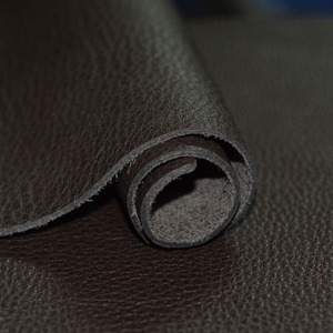 Wax horse leather black thick