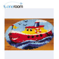 Oneroom ZD213 Big Boat Hook Rug Kit DIY Unfinished Crocheting Yarn Mat Latch Hook Rug Kit