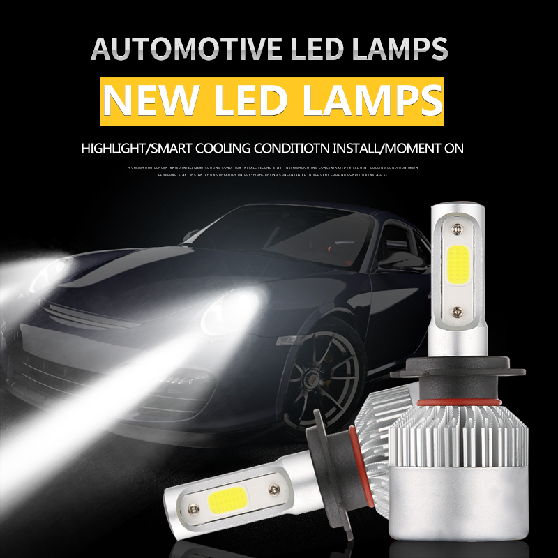 S2 H7 H1 H4 9006 9005 H8 H11 H3 H9 LED 72W 6000K 3000K 8000K Automobiles 8000LM 12V COB Bulbs 2 sides Diodes Replace Parts LampS2 H7 H1 H4 9006 9005 H8 H11 H3 H9 LED 72W 6000K 3000K 8000K Automobiles 8000LM 12V COB Bulbs 2 sides Diodes Replace Parts Lamp