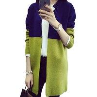 Women 2016 Spring Autumn Winter Jacket Coat Long Sleeve Slim Crochet Knit Women Sweater Cardigan Winter