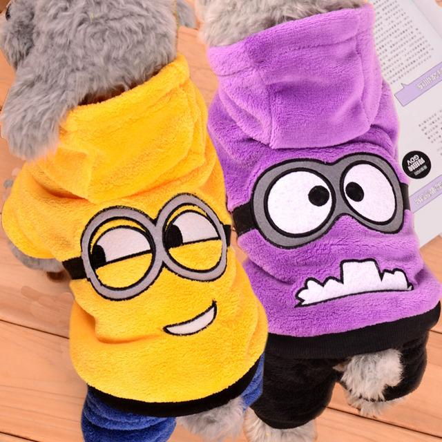 Winter Dog Clothes for Small Dogs Four Legs Dog Jumpsuit Puppy Coat Outfits Chihuahua Clothing Pet Clothes Cartoon Pet Costume 2