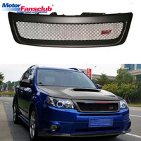 1Pc Car Racing Grille For Subaru Forester XT SH WRX/STI Grill 2009 2012 Radiator Mesh Horizontal Front Bumper Lower Modify ABS
