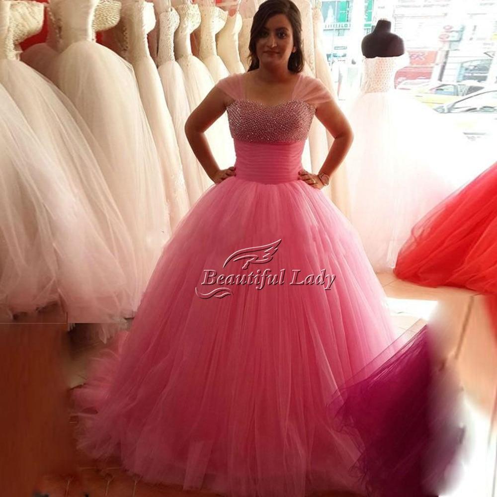 Popular Pink Fluffy Prom Dress-Buy Cheap Pink Fluffy Prom Dress ...