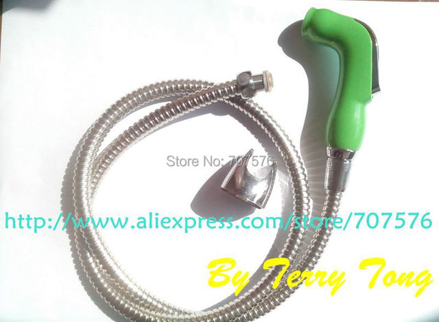 Bathroom Handheld Washing Diaper Sprayer Kit Toilet Portable bidet Jet GS078 Shattaf Shower head+ hose+Wall Holder Free Shipping
