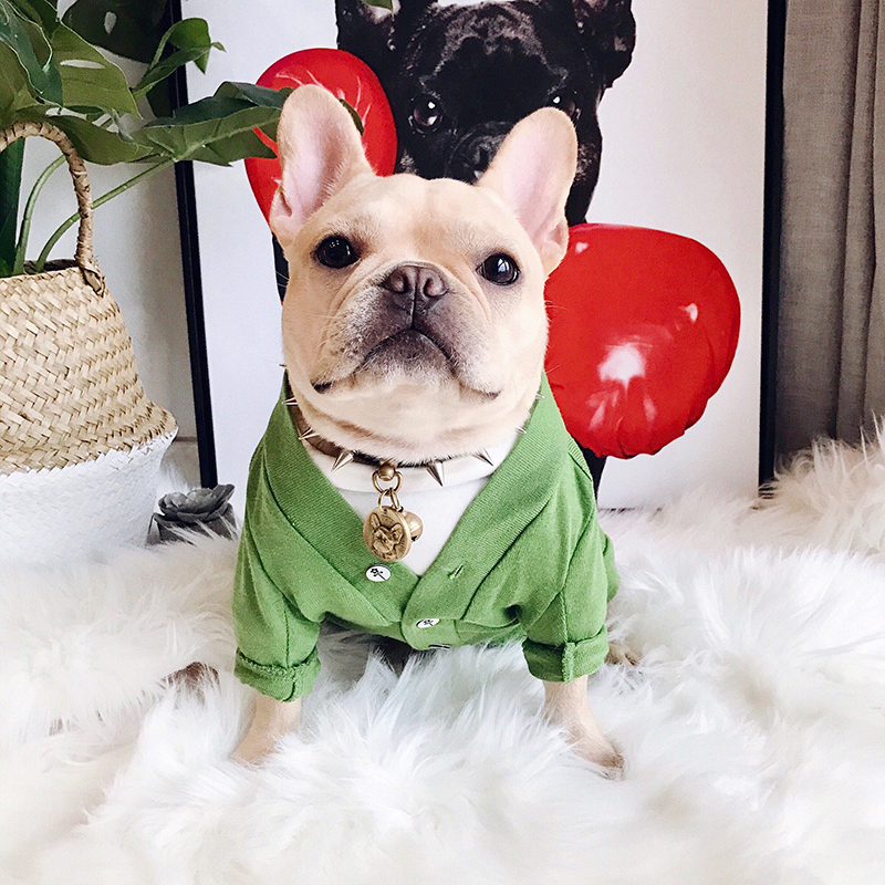 2018 Hot Dog Clothes for Small Dogs French Bulldog Coat All Match Outfit for Dogs Chihuahua Clothing Cardigan Jacket for Pug XXL