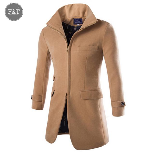 [ tamaño asiático ] Boutique moda Trench Coat abrigos solo pecho hombres prendas de vestir exteriores ocasional abrigo masculino chaquetas rompevientos
