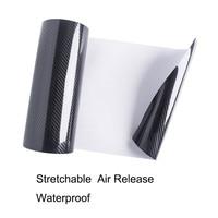 5D Car Sticker 20m roll Glossy Carbon Fiber Vinyl Film Wrap Foil Waterproof DIY Car Decorative Sticker Black Car Styling Decal