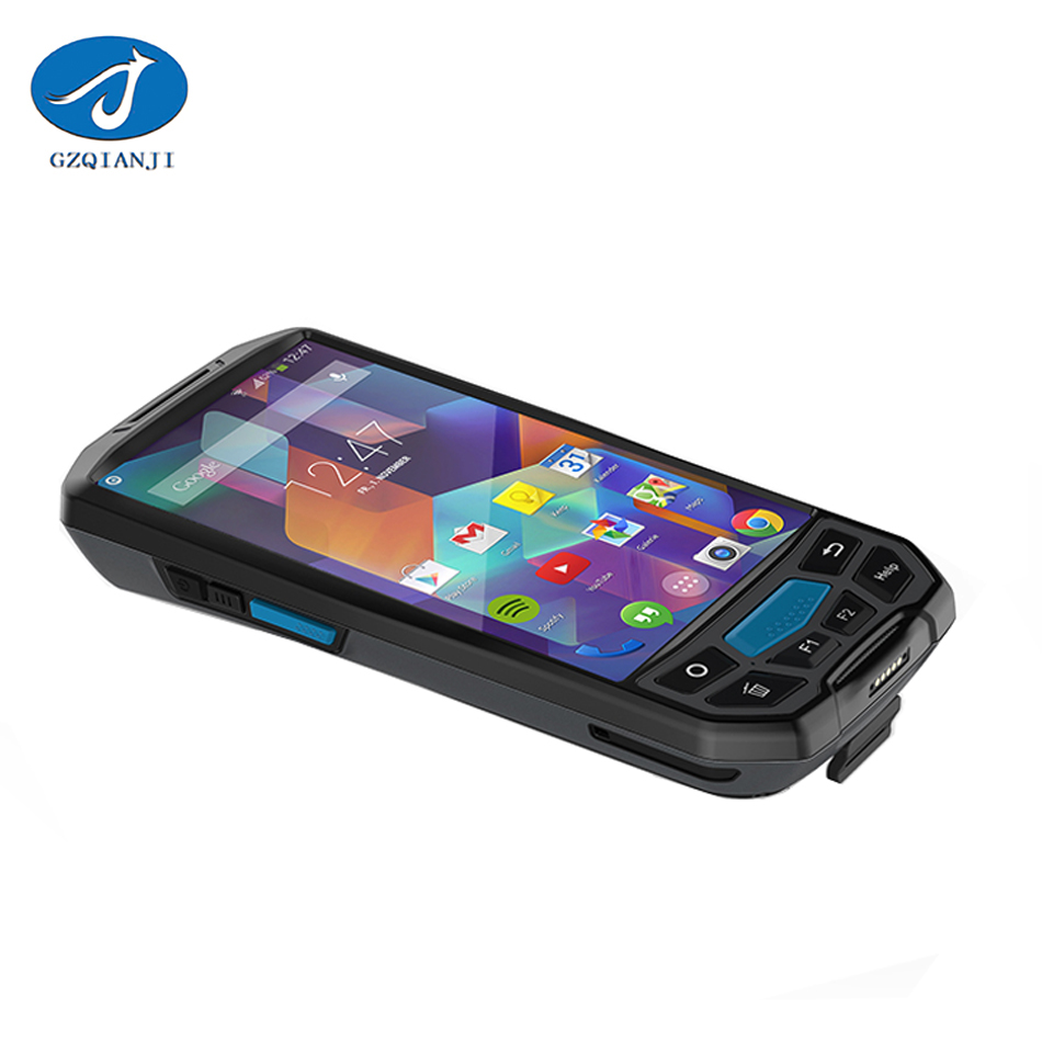 1D 2D Android 7.0 PDA 5.0 inch Barcode scanner PDA bluetooth wireless Industrial barcode scanner android PDA with display