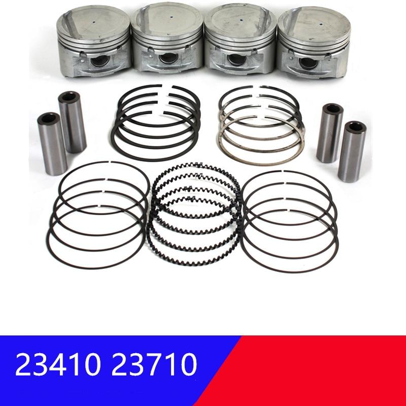 For Hyundai Sonata 02-05 Tucson 02-09 For Kia Optima Sportage 04-09 2.0L Engine Piston W/ Ring Set 2341023710 2304023200