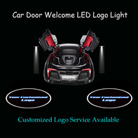 2x Your Customized Logo Car Door Welcome Courtesy Laser Projector Puddle Spotlight Ghost Shadow LED Light