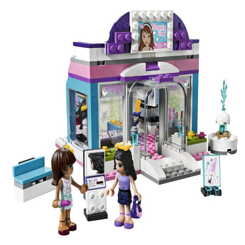 10156 BELA Friends Series Butterfly Beauty Shop Model Building Blocks Enlighten DIY Figure Toys For Children Compatible Legoe decool 3117 city creator 3 in 1 vacation getaways model building blocks enlighten diy figure toys for children compatible legoe
