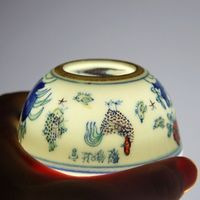 China antique Porcelain Ming chenghua Hand painting chicken doucai bowl Teacup