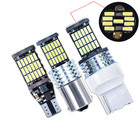 1pcs T15 T20 1156 BA15S P21W W16W 45SMD 4014 Car Tail Bulb LED Canbus Turn Signal Parking Bulbs Reversing Lights Lamp Bulbs