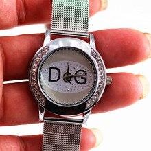 Relojes Mujer Нержавеющаясталь группа Повседневная Золотой медведь Часы Для женщин двухрядные кристалл платье кварцевые Для женщин часы