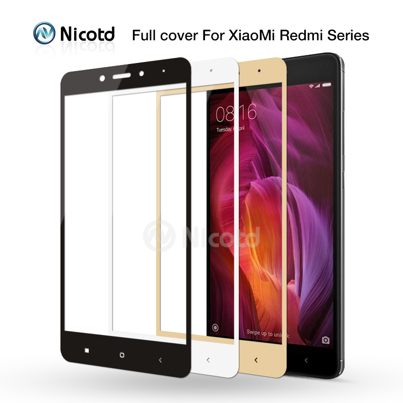 Full Cover Tempered Glass For Xiaomi Redmi 4X 4A 3s For Redmi Note 5A prime 5plus 3X Note 4 3 4X Screen Protector Toughened Film(China)