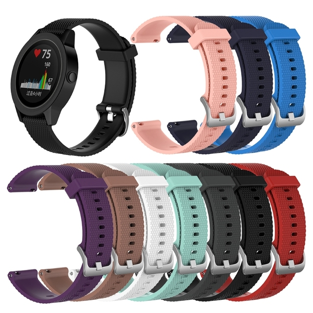 JAVRICK Watch Band For Garmin Vivoactive 3 Vivomove Vivomove HR Silicone Replacement Watch Strap
