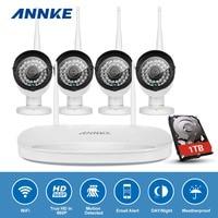 ANNKE 4CH 960P Wireless NVR Kit 4PCS 1 3MP CCTV IP Camera WIFI Security System Network