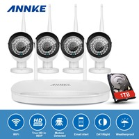 ANNKE 4CH 960P Wireless NVR Kit 4PCS 1 3MP CCTV IP Camera WIFI Security System Network