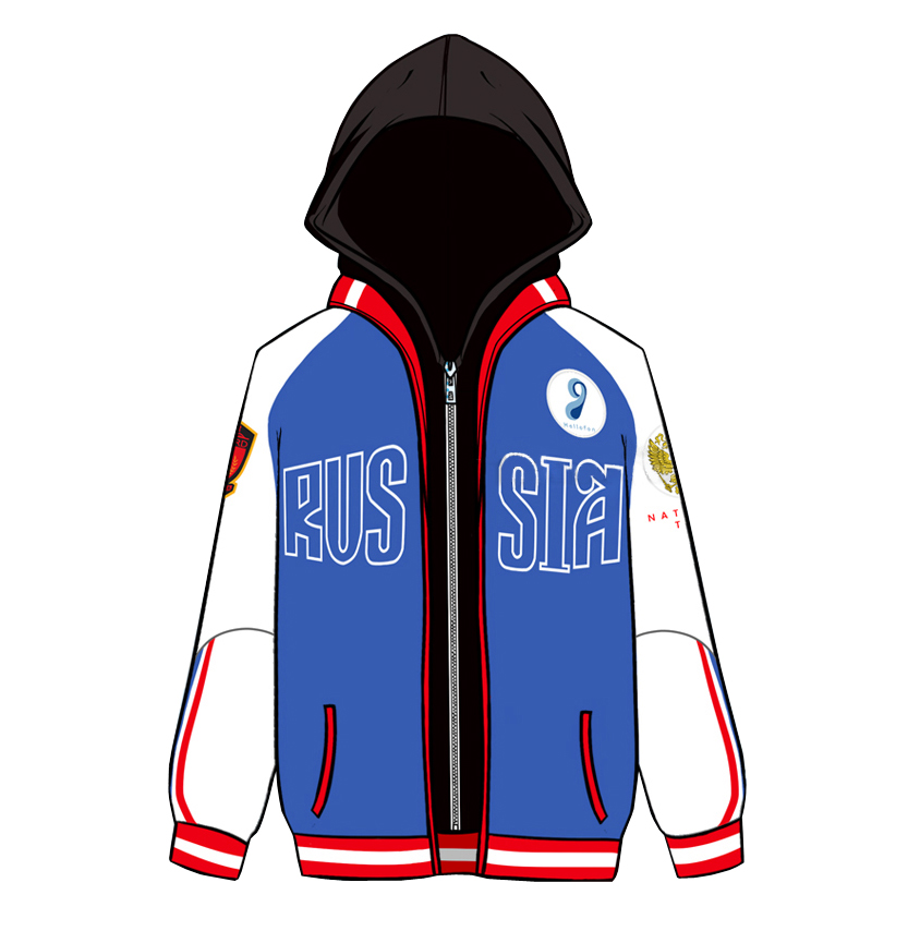 YURI on ICE Yuri Plisetsky False Two Pieces Hoodie Cosplay Costume Hooded Jacket Sportswear Daily Casual Sweatshirts Size S-XXXL