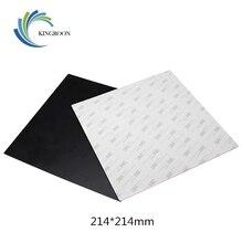 Korumak Baskı Platformu Film 214*214mm Isıtmalı Yatak 3D Yazıcılar Parçaları Kullanımlık Etiket Isı Kağıt Parçası Siyah Isıtma a...