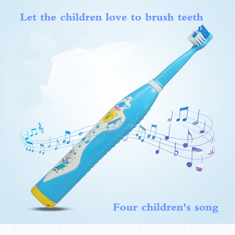 Children's electric toothbrush usb charging Sonic toothbrush dupontbrushhead acousticwave toothbrush pinkblue Music toothbrush image