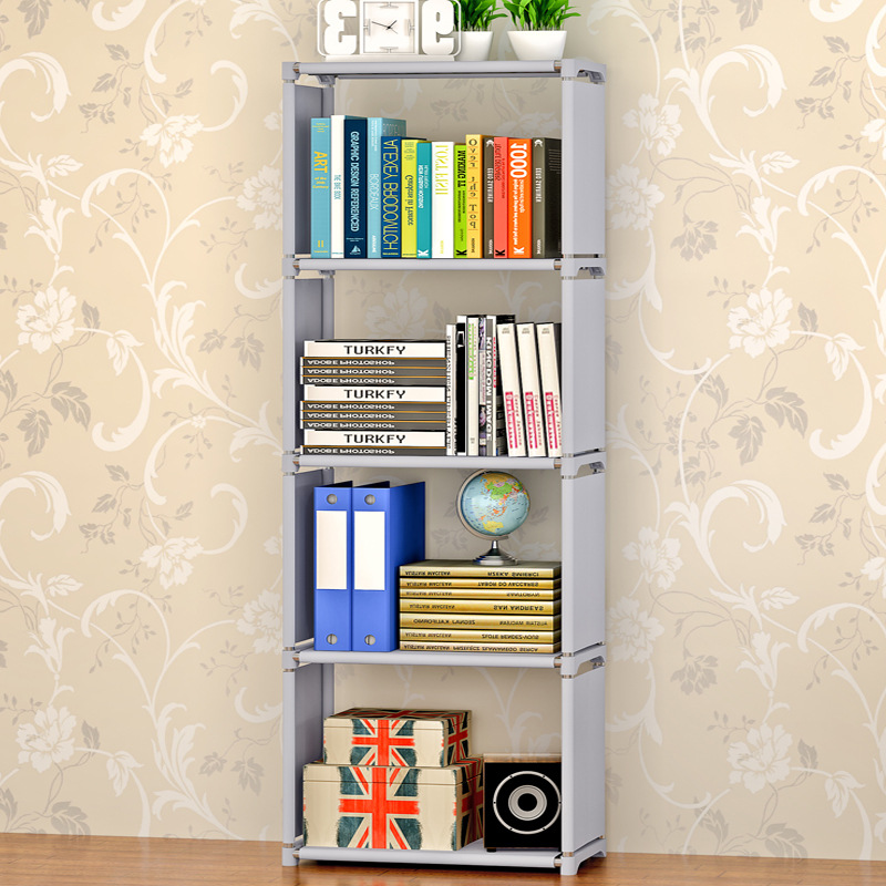Modern simple home living room decorated freely assembled removable non-woven fashion stainless steel five-storey shelf shelves