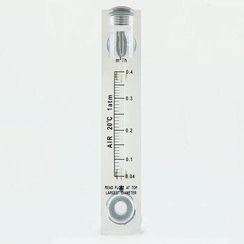 """0.04-0.4m3/h 1/2 """"BSPT gwint zewnętrzny Panel PMMA przepływomierz gazu przepływomierz przepływomierz przepływomierz rotametr bez zaworu sterującego"""